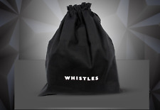 Whistles - Bag/Shoes - New Black Drawstring Dustbag - White Logo - Medium
