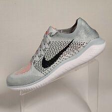 Nike Free Run Flyknit 2018 Pure Platinum Black White 942838 003 Men Sz 10 NIB