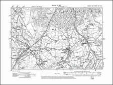 Rotherfield, Jarvis Brook, Town Row, old map Sussex 1910: 17SE repro