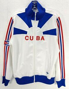 Adidas Originals CUBA National Track Jacket  Zip Up Red Blue Flag RARE Men's S