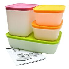 Tupperware Freezer Mates Plus Food Containers Starter Set of 4