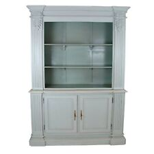 Reproduction French Farmhouse style Large Grey Mahogany Open Bookcase Dresser