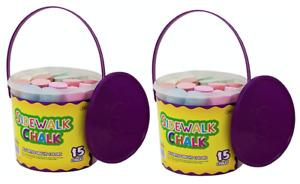 JUMBO SIDEWALK Chalks 15 Bright Colours TWIN PACK