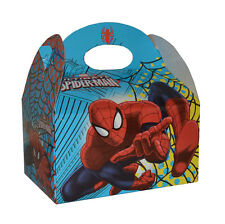 2 x SPIDER-MAN CARRY BOX ALIMENTI KIDS PARTY farina SWEET Candy Scatole MARVEL SPIDERMAN
