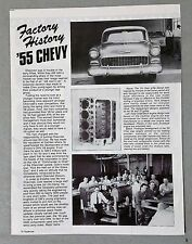 1955 Chevy Vintage 3-Page Article AD