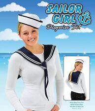Sailor Kit Hat & Scarf Instant Kit Women  Men Navy Fancy Dress Accessory Unisex