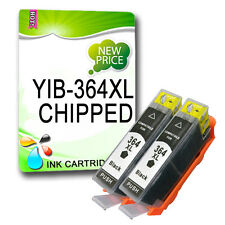 2 x 364XL Black Ink Chipped Replace unbrand fits B110a B110c B110e C309a C410b