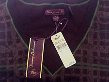 Women's NEW Tommy Bahama 18 golf beachwood plaid sweater vest Top L Large