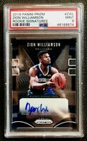 2019-20 Panini Prizm Zion Williamson Signatures RC Rookie AUTO PSA 9 MINT