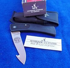 "Schrade USA SP8 ""Cougar"" Lightweight Lockback/Guthook Folding Knife with Box"