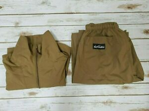 Wild Things Wind Jacket & Pants Set Windshirt Coyote Brown size Large