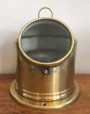 Antique Vintage Brass Ships Binnacle Sestrel Compass on Gimbal Mount Marine