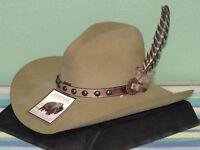 STETSON BROKEN BOW 4X FELT GUS STYLE COWBOY WESTERN HAT