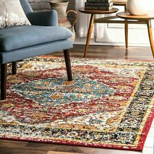 nuLOOM Transitional Indoor/Outdoor Medallion Muriel Area Rug in Multi
