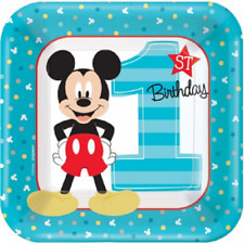 Disney Mickey Mouse Fun to Be One 1st Birthday Cake Plates (8)