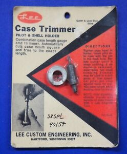 LEE .38 Spl Case Length Gauge & Shell Holder-(90157)-NOS-in package