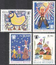 Belgio 1969 UNICEF/arte/Bambini/benessere/Birds/Un/ANIMAZIONE 4v Set (n32718)