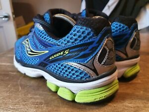 SAUCONY GUIDE 5 BLUE PROGRID RUNNING TRAINERS UK SIZE 9.5