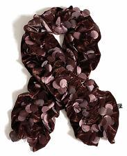echarpe fantaisie femme velours marron chocolat confettis