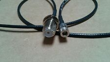 """us made XM or Sirius antenna SMB adapter cable to TV connector F type 12"""" RG-174"""