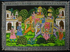 * Indian Hathi Sawari Scene Sequined Wall Hanging * Fair Trade * Large