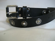 MENS GENUINE BLACK STUDDED LEATHER  BELT