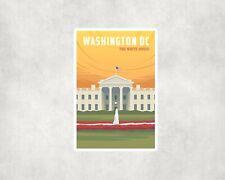 2 X Washington DC Equipaje de Viaje EE. UU. para Colección de recortes Pegatinas Calcomanías De Laptop
