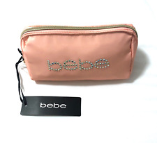 NEW WITH TAGS AUTHENTIC BEBE COSMETIC BAG PINK