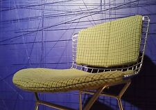 SET Sitzkissen & Rückenkissen - KNOLL Harry Bertoia Wire Sidechair Barstool