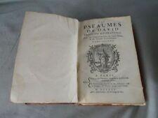 La Bible: Livre des Pseaumes (psaumes) de Davidtome II 1745