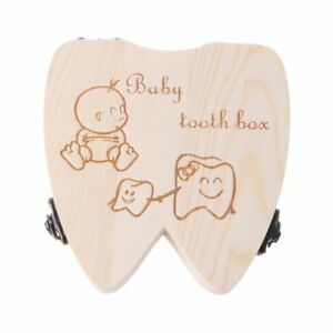 Commemorating Memory Tooth Box Wooden Milk Teeth Organizer Storage Save Souvenir