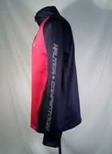 Nautica Competition Jacket Shirt Spellout Fleece Lined 1/2 Zip Men's Size Small