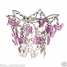 PINK BUTTERFLY PENDANT LIGHTSHADE CEILING SHADE GIRLS BEDROOM - FREE DELIVERY