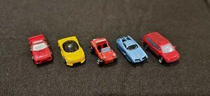 Micro Machines Lot Of 5 Inc Pontiac Mitsubishi Volkswagon Dodge