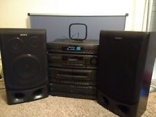 Sony Compact HI-FI Stereo System LBT-D550 - Speakers & Remote - TESTED