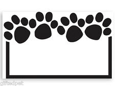 Paw Print Enclosure Cards w/Envelopes (rectangular design)