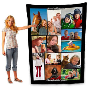 Photo Blanket Using My Own Photos Collage Personalized Customized for Adult Baby
