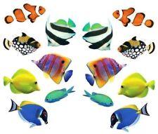 ~ Photoessence Tropical Fish Clown Angel Reef Tank Blue Mrs Grossman Stickers ~
