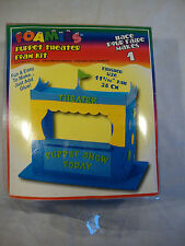 "Foamies 3D Puppet Theater Foam Kit Kids Crafts Play Toy 11"" Blue Green Yellow"