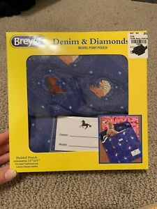 breyer denim & diamonds model pony pouch - for classics/traditionals -new in box