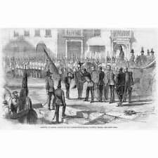 MALTA Prince Albert Landing at Custom House Stairs VALETTA - Antique Print 1859