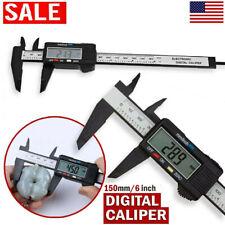 150mm Digital Electronic Vernier Caliper Carbon Fiber Micrometer Gauge Ruler Us