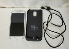 white mini samsung galaxy s4 android smartphone with merkury case and usb corb