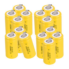 15pcs NiCd Rechargeable Battery 1300mAh 1.2V Sub C SC Batteries