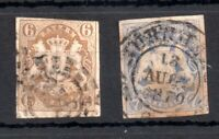 German States Bavaria 1865 6kr & 7kr fine used WS13462