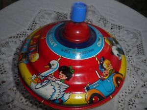 Vintage Metal Toy Chad Valley Spinning Top - 1950's?