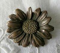 Antique Edwardian Nouveau Daisy Flower Old Victorian Lace Pin Brooch