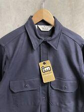 New listing Vintage Woolrich Heavyweight Chamois Shirt Cotton Medium Usa made Blue Nos Nwt