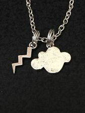 "Cloud & Lightning Charm Tibetan Silver 18"" Necklace BIN"