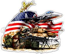 "Sniper US Army Marine Military Rifle Weapon Car Bumper Vinyl Sticker Decal 5X4"""